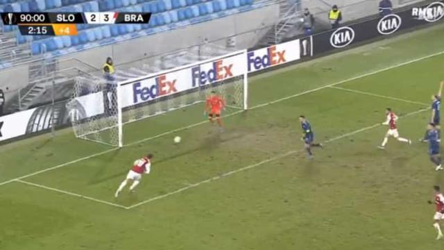 Paulinho fechou com chave de ouro o triunfo do Sp. Braga