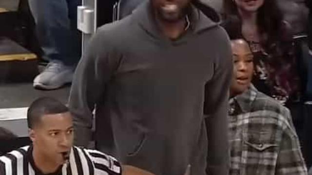 LeBron vibrou com show do filho e até o árbitro teve que o acalmar