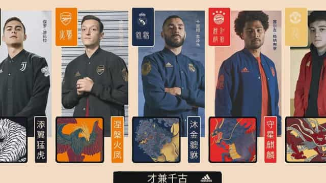 Os mirabolantes equipamentos da Adidas para o Ano Novo chinês