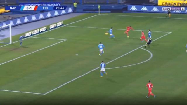 Golaço de Vlahovic sentenciou derrota do Napoli frente à Fiorentina
