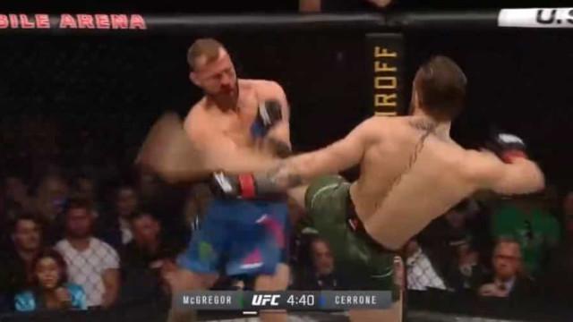 Bastaram 40 segundos 'à McGregor'. Assim foi o vitorioso regresso à UFC