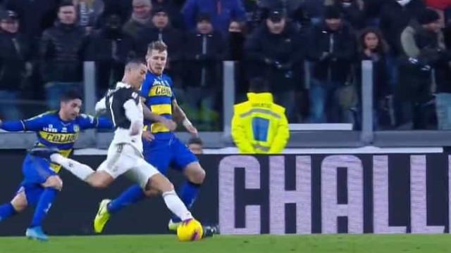 Ronaldo inaugurou o marcador no Juventus-Parma desta forma