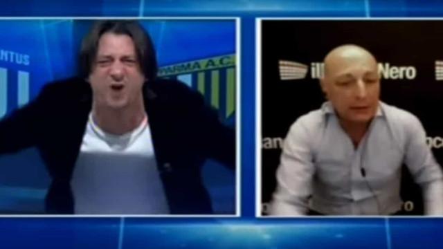 Relator italiano enlouquece em direto com o bis de Ronaldo