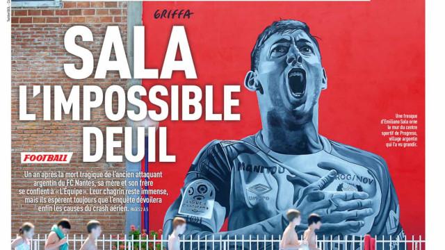 Lá fora: Um ano de luto por Sala e Dybala chama por Pogba