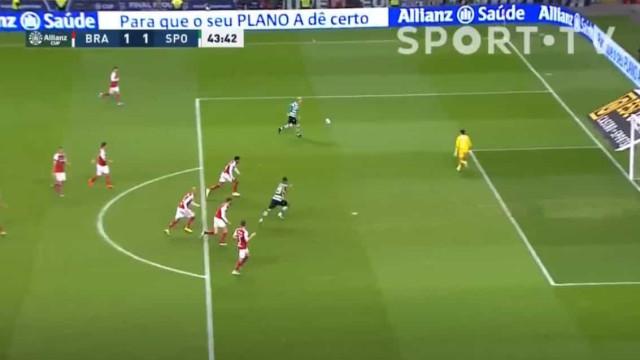 Mathieu apanhou defesa do Sp. Braga a 'dormir' e fez o empate