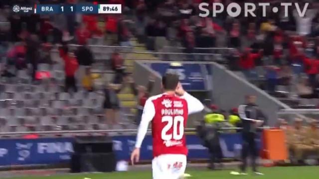 O golo de Paulinho aos 90' que colocou o Braga na final da Taça da Liga