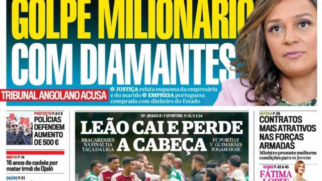 Hoje é notícia: Golpe milionário com diamantes; IRS. Corte por compensar