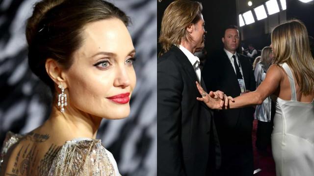 Como reagiu Angelina Jolie ao reencontro de Brad Pitt e Jennifer Aniston?