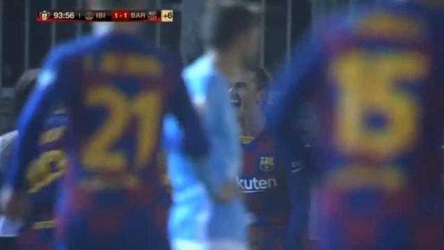 Foi assim que Griezmann 'salvou' o Barcelona em Ibiza