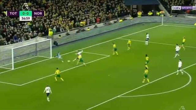 A bela jogada que resultou no primeiro golo do Tottenham-Norwich