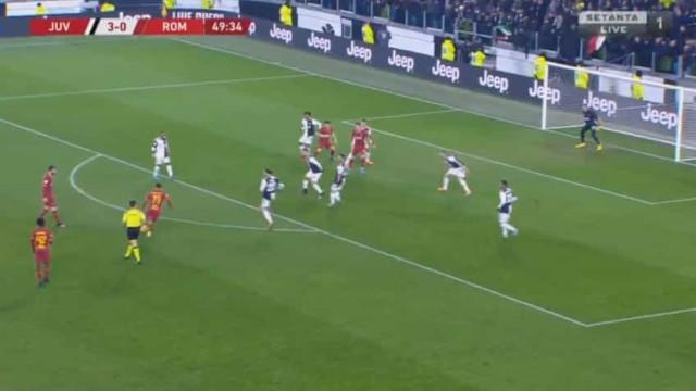 AS Roma marcou e Buffon bem se pode queixar do azar