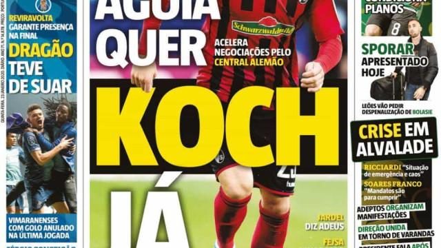 Por cá: Benfica avança por Koch e Silas deixa leão no final da época