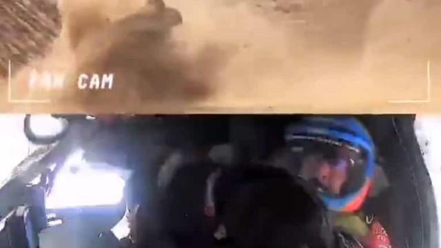 Reveladas novas imagens do violento acidente de Fernando Alonso no Dakar