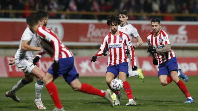 João Félix assiste na eliminação chocante do Atlético na Taça do Rei