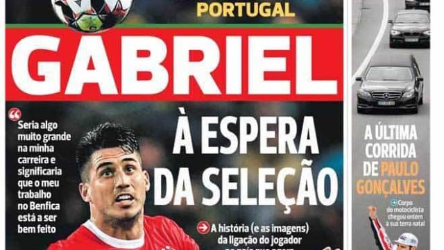 Por cá: Gabriel à porta da seleção, leão sob pressão e Costa até ao fim