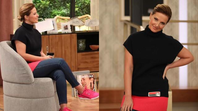 Cristina Ferreira aposta em look confortável e fãs desfazem-se em elogios