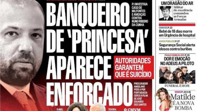 Hoje é notícia: Banqueiro enforcado; Sporting na clínica de Varandas