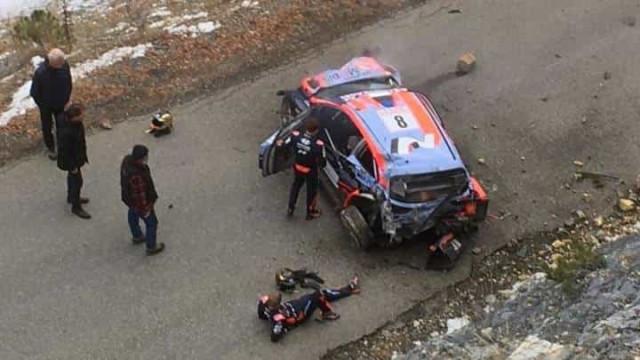 Assustador: Tanak sofre acidente em Monte Carlo a mais de 180 km/h