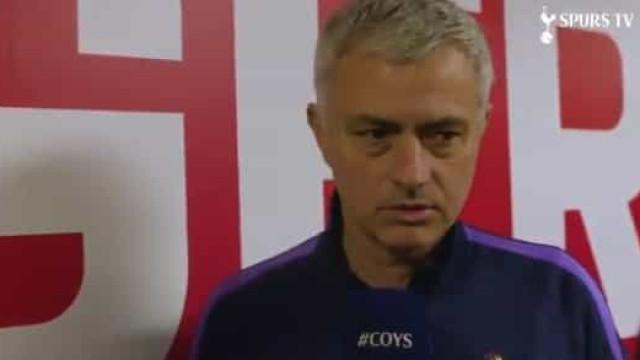 A análise de Mourinho à estreia de Gedson como titular no Tottenham