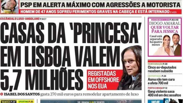 Hoje é notícia: Casas de Isabel valem milhões; Neto de Moura muda de nome