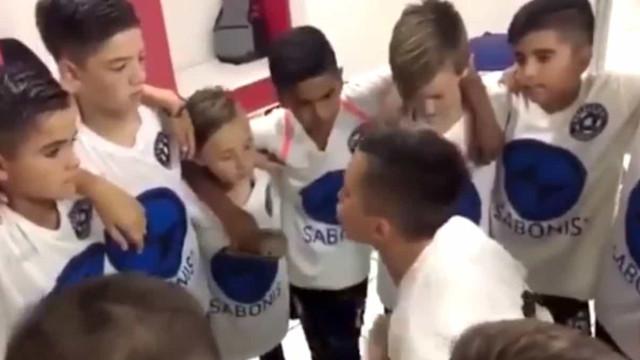 O discurso de um jogador de 11 anos que deixou a Argentina boquiaberta