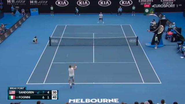 Quantas vidas tem Fognini? Eis um dos melhores pontos do Australian Open