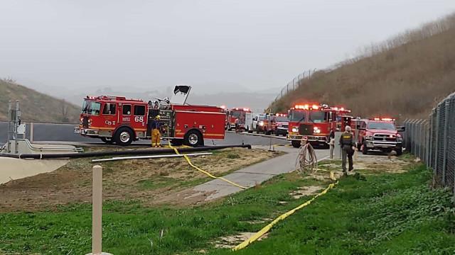 Kobe Bryant: Surgem imagens do local do fatal acidente do norte-americano