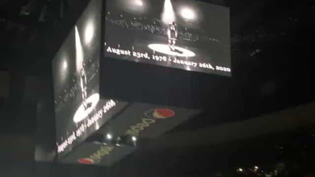 Morte de Kobe foi anunciada em pavilhão da NBA. Público reagiu assim