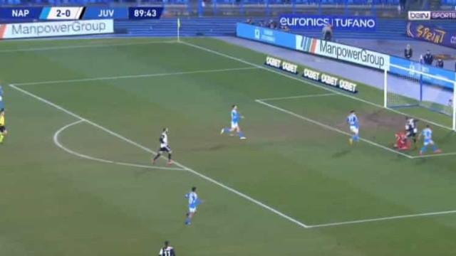 O golo de Ronaldo que não evitou a derrota da Juventus em Nápoles