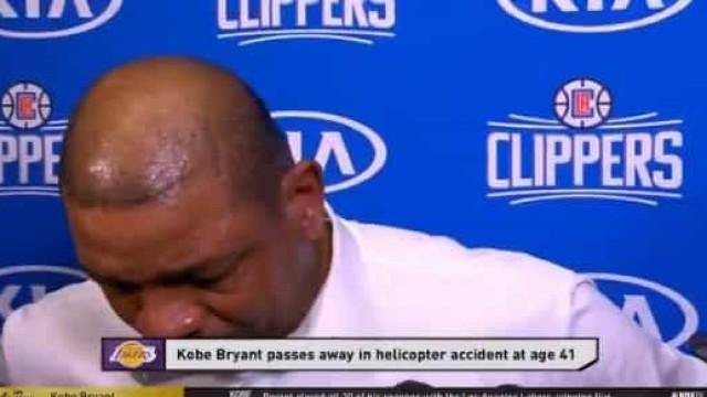 Treinador dos LA Clippers em lágrimas por causa de Kobe Bryant