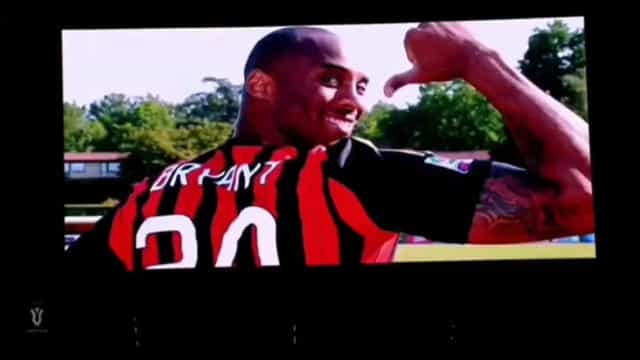 A impressionante homenagem a Kobe Bryant antes do AC Milan-Torino
