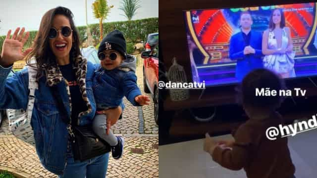 Filho de Rita Pereira encantado ao ver mãe na televisão