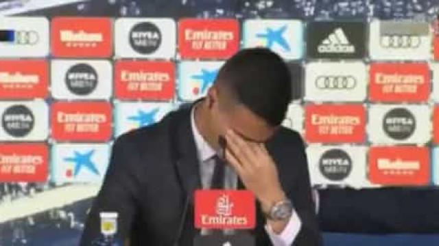 Reinier falou da família e desfez-se em lágrimas no Santiago Bernabéu