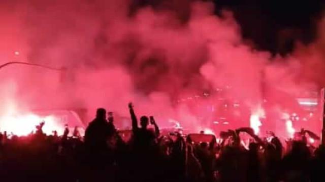 Adeptos receberam Atlético com 'inferno' no Wanda Metropolitano