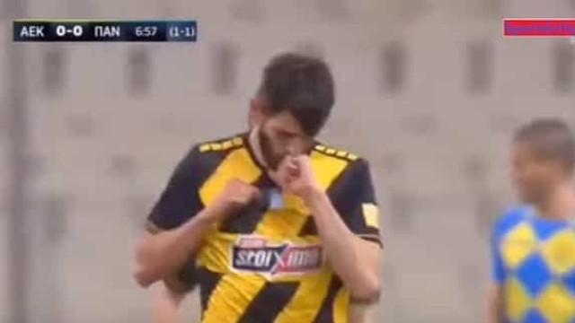 Foi assim que Nélson Oliveira deu início à goleada do AEK
