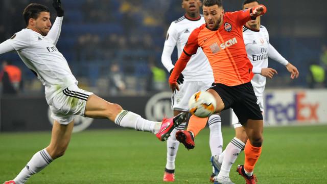 [0-0] Shakhtar-Benfica: Intervalo em Kharkiv. Persiste o nulo