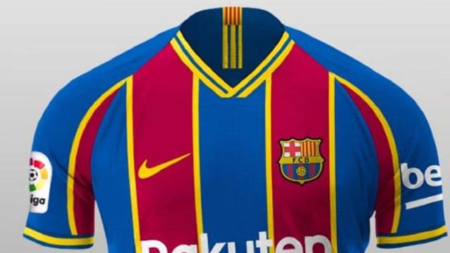 Nova camisola principal do Barça promete dividir adeptos catalães