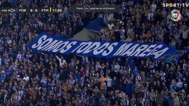 "Adeptos do FC Porto exibem tarja gigante: ""Somos todos Marega"""