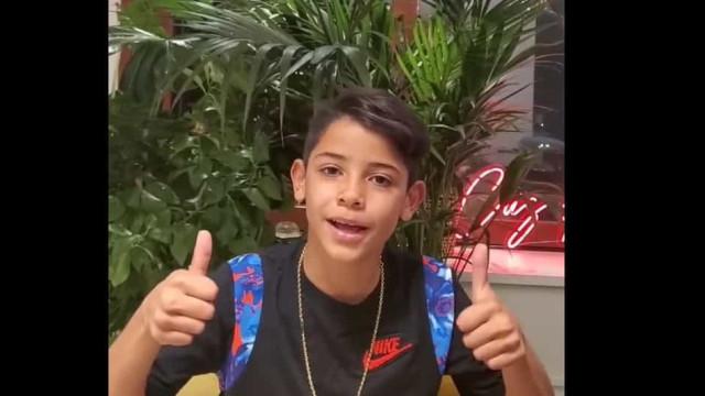 Filho mais velho de Cristiano Ronaldo já chegou ao Instagram