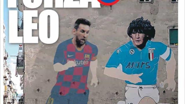 """Lá fora: Messi vai à """"casa de Diego"""", mas espanhóis temem coronavírus"""
