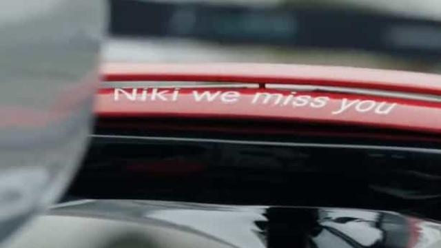A Mercedes fez assim um minuto de barulho para homenagear Niki Lauda