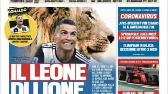 """Lá fora: Do """"leão"""" Cristiano Ronaldo ao 'tête-à-tête' de Mário Rui"""