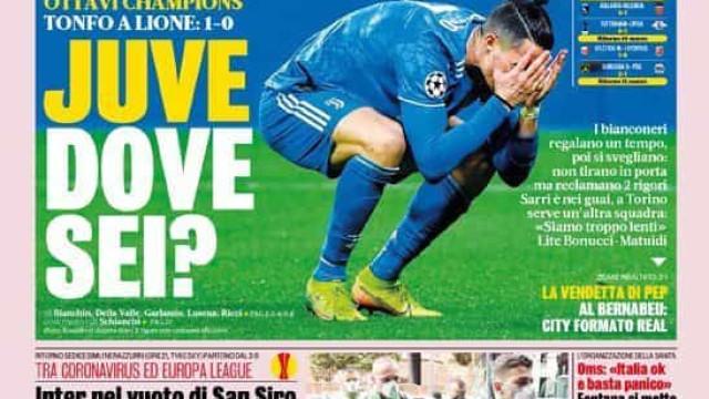 Lá fora: 'Onde estás, Juve?' e a queda do Real Madrid aos pés do City