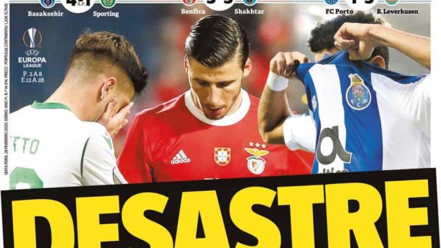 Por cá: Desastre português nas competições europeias