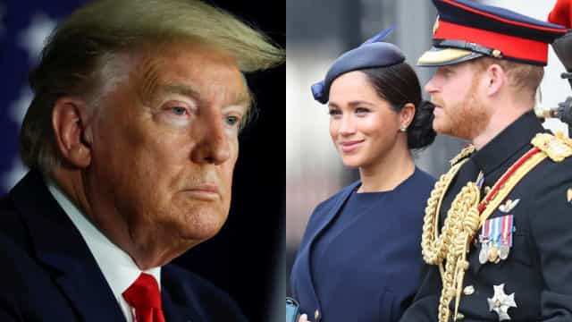 Donald Trump deixa recado a Meghan Markle e Harry