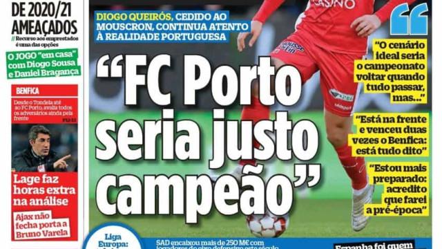 """Por cá: """"FC Porto seria justo campeão"""", Benfica ajuda e o final da Liga"""