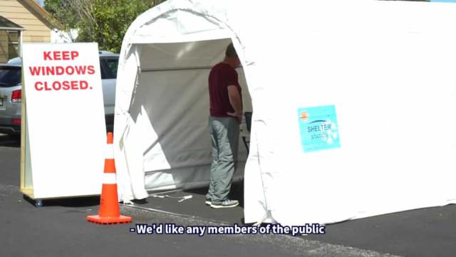 Roubaram tenda de testes e polícia neozelandeza avisa: Podem ter Covid-19