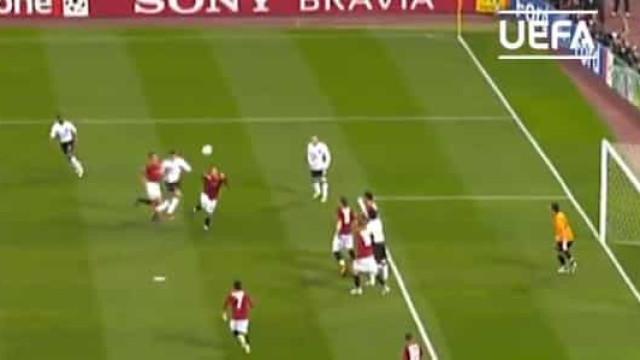 UEFA recorda cabeçada triunfal de Ronaldo em Roma