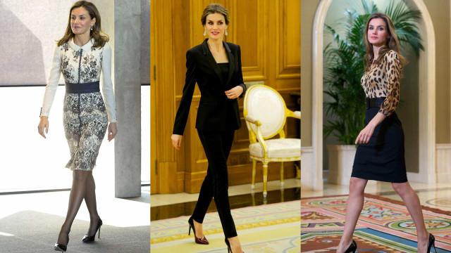 Estilo 'business woman'. Looks executivos usados pela rainha Letizia