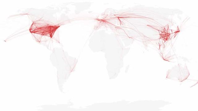 Covid-19 também mudou 'os céus': Assim está o tráfego aéreo no mundo